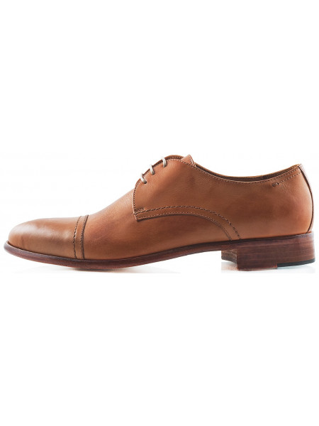 Туфли кожаные CINQUANTACENTO (ИТАЛИЯ) 2221 светло-коричневые
