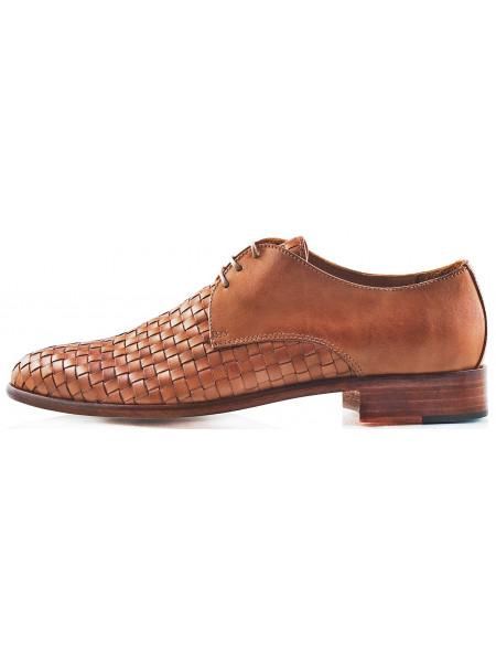 Туфли кожаные CINQUANTACENTO (ИТАЛИЯ) 2219 светло-коричневые
