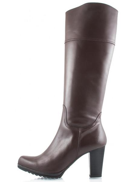 Сапоги осенние кожаные IMARA MODA (ИСПАНИЯ) 1845 темно-коричневые