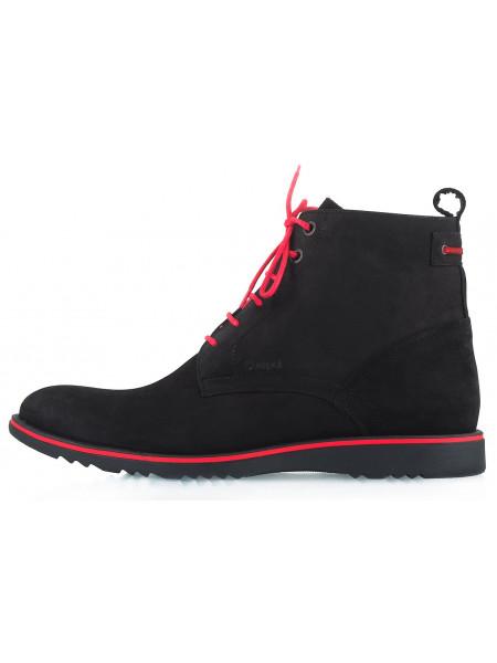 2247 CONHPOL (Poland ) Ботинки Зимние Нубук Черные