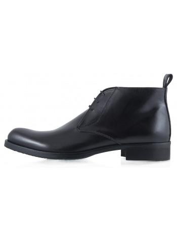 Ботинки осенние кожаные DASTHON (ИТАЛИЯ) 2259 черные