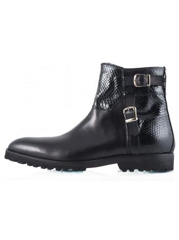 Ботинки осенние кожаные DASTHON (ИТАЛИЯ) 2261 черные