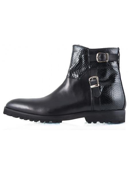 2261 DASTHON (Italy) Ботинки Осенние Черные