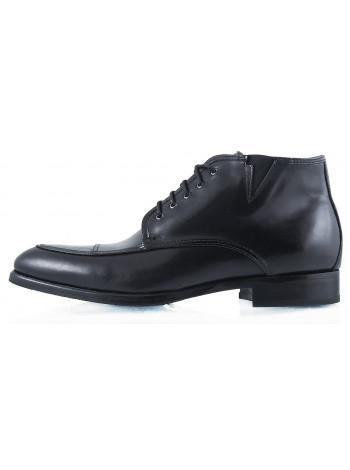 Ботинки осенние кожаные DASTHON (ИТАЛИЯ) 2258 черные