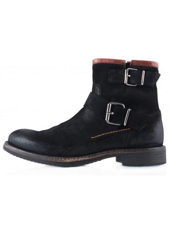 Ботинки осенние замшевые AMBITIOUS (Portugal) 2275 черные