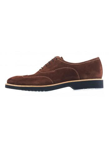 Туфли-броги замшевые CONHPOL DYNAMIC (Poland ) 20009 коричневые