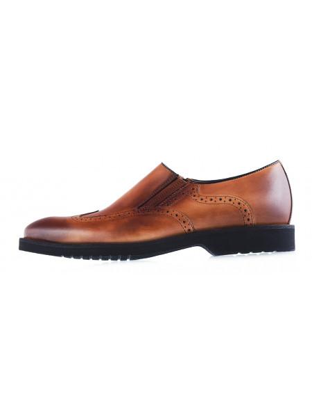 Туфли-броги кожаные CONHPOL DYNAMIC (Poland ) 20016 светло-коричневые