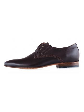 Туфли кожаные CONHPOL DYNAMIC (Poland ) 20017 темно-коричневые