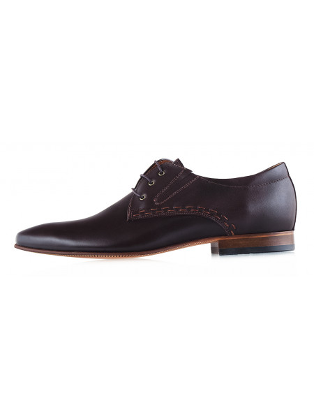 20017 CONHPOL (Poland ) Туфли кожаные темно-коричневые