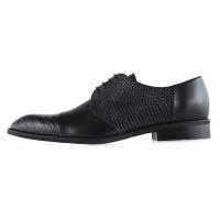 20018 CONHPOL (Poland ) Туфли кожаные черные рептилия