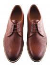 Туфли кожаные сетка сквозная CONHPOL DYNAMIC (Poland ) 20024 светло-коричневые