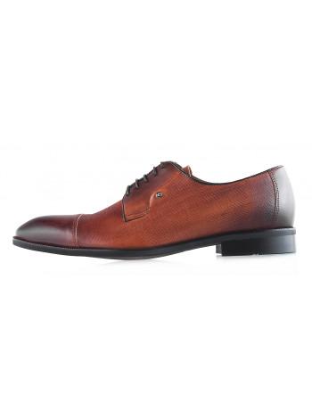 Туфли кожаные CONHPOL DYNAMIC (Poland ) 20034 коричневые