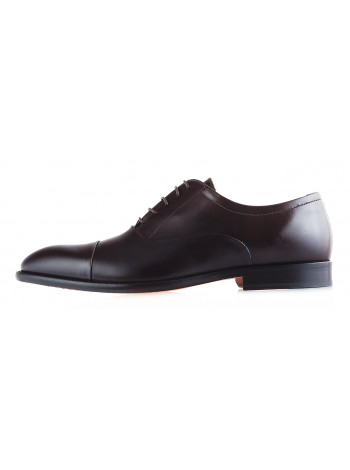 20069 ADOLFO CARLI (Italy) Туфли кожаные темно-коричневые