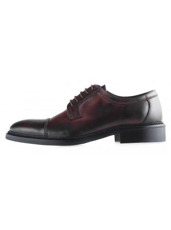 Туфли кожаные DASTHON (ИТАЛИЯ) 20088 темно-коричневые