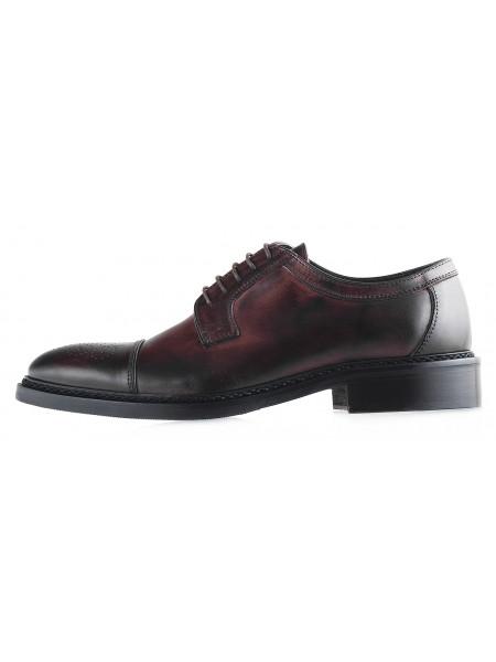 20088 DASTHON (Italy) Туфли кожаные темно-коричневые