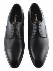 Туфли кожаные CONHPOL DYNAMIC (Poland ) 20090 черные
