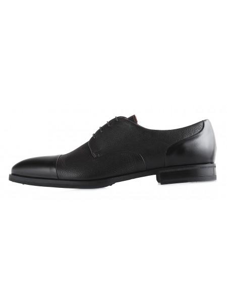 20091  CONHPOL (Poland ) Туфли кожаные темно-коричневые