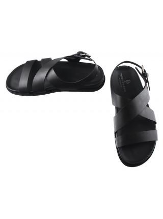 Сандали кожаные DANIELE POLIDORI (ИТАЛИЯ) 20127 черные