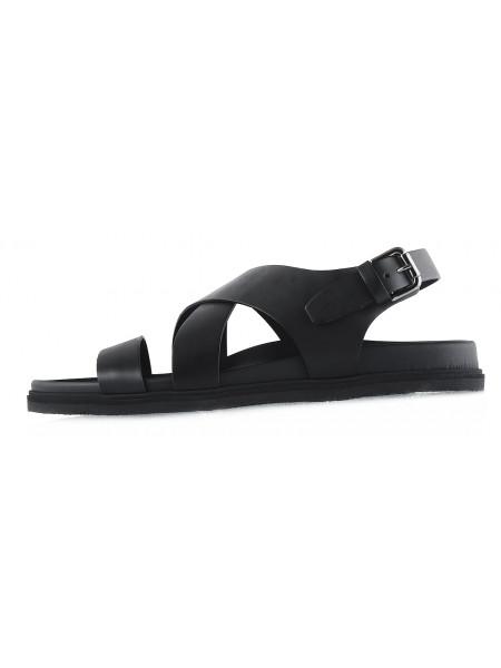 20127 DANIELE POLIDORI (Italy) Сандалии кожаные черные
