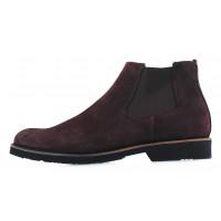 20135 RYLKO (Poland ) Ботинки осенние замшевые темно-коричневые