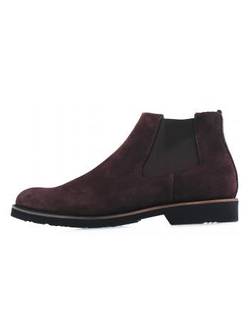 Ботинки осенние замшевые RYLKO (Poland ) 20135 темно-коричневые