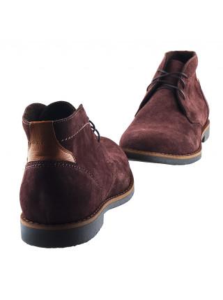 20136 RYLKO (Poland ) Ботинки осенние замшевые коричневые