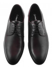 Туфли кожаные CONHPOL DYNAMIC (Poland ) 20143 темно-коричневые