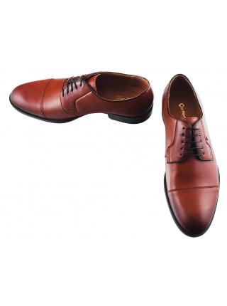 Туфли кожаные CONHPOL DYNAMIC (Poland ) 20144 коричневые