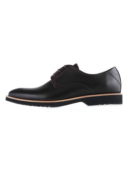 Туфли кожаные CONHPOL DYNAMIC (Poland ) 20145 темно-коричневые