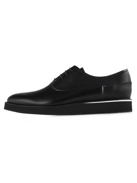 Туфли кожаные CONHPOL DYNAMIC (Poland ) 20146 черные