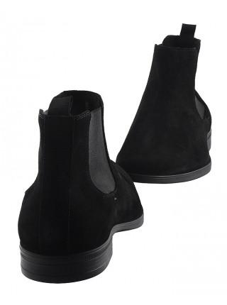 20149 RYLKO (Poland ) Ботинки осенние замшевые черные