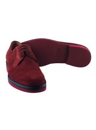 Туфли замшевые CONHPOL DYNAMIC (Poland ) 20154 бордовые