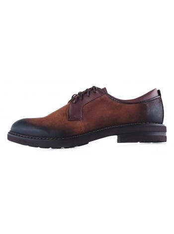Туфли замшевые CONHPOL DYNAMIC (Poland ) 20171 темно-коричневые