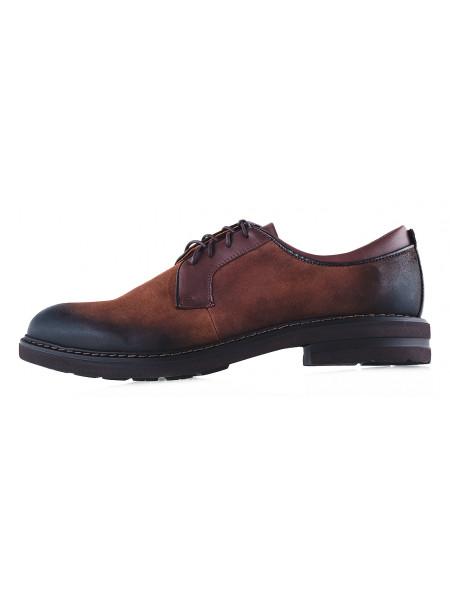 20171 CONHPOL (Poland ) Туфли осенние замшевые темно-коричневые