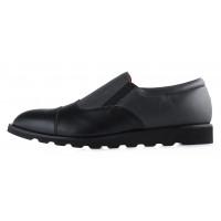 Туфли осенние кожаные CONHPOL DYNAMIC (Poland) 20179 черно-серые