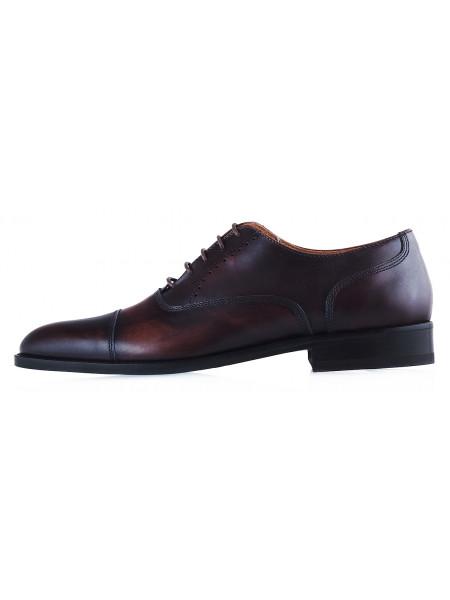 20187 ADOLFO CARLI (Italy) Туфли кожаные темно-коричневые