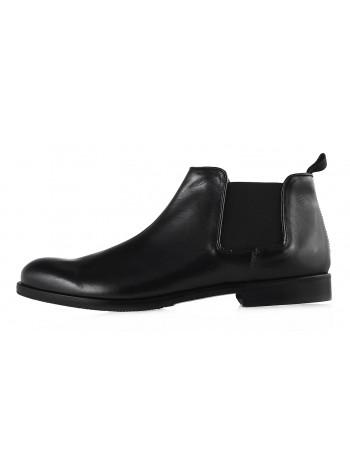 Ботинки осенние кожаные ADOLFO CARLI (ИТАЛИЯ) 20190 черные