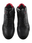 20195 BADURA (Poland ) Ботинки-спорт осенние кожаные черные