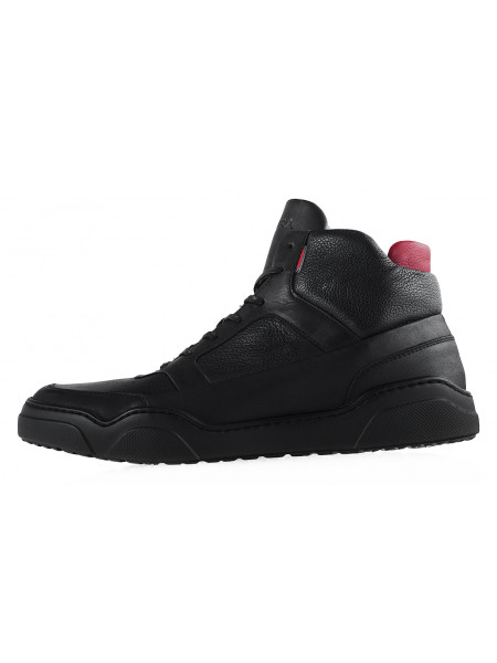 Ботинки-спорт осенние кожаные BADURA (Poland ) 20195 черные