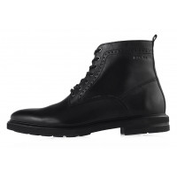 20196 BADURA (Poland ) Ботинки осенние кожаные черные