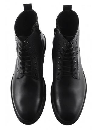 Ботинки осенние кожаные BADURA (Poland ) 20196 черные