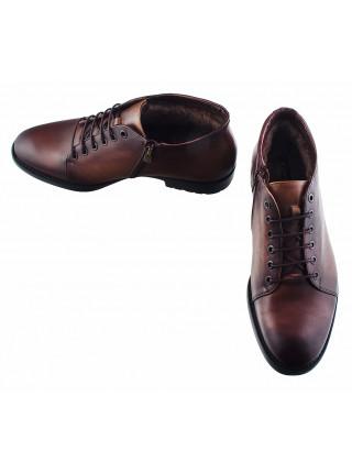 20204 CONHPOL (Poland ) Ботинки зимние кожаные темно-коричневые