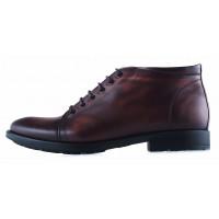 20205 CONHPOL (Poland ) Ботинки осенние кожаные темно-коричневые