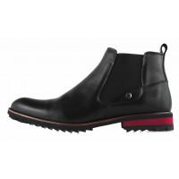 Ботинки осенние кожаные CONHPOL DYNAMIC (Poland ) 20206 черные