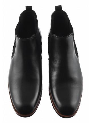 20206 CONHPOL (Poland ) Ботинки осенние кожаные черные