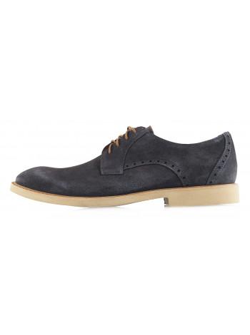 Туфли замшевые CONHPOL DYNAMIC (Poland ) 20236 темно-коричневые