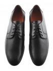 20238 CONHPOL DYNAMIC (Poland) Туфли кожаные черные сетка сквозная