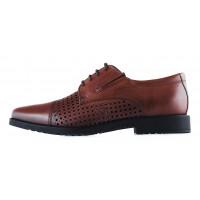 Туфли кожаные сетка сквозная SALAMANDER (Обувь) (Germany) 20265 коричневые