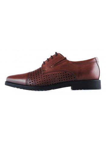 20265 SALAMANDER (Germany) Туфли сетка кожаные коричневые