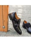 Туфли-монки кожано-замшевые CONHPOL DYNAMIC (Poland ) 20270 черные